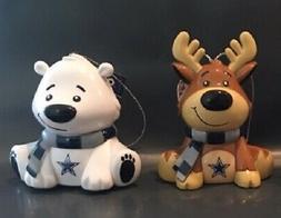 1 Dallas Cowboys Reindeer AND 1 Cowboys Bear Christmas Holid