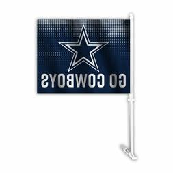 Auto Car Window Flag - NFL Dallas Cowboys Go Cowboys
