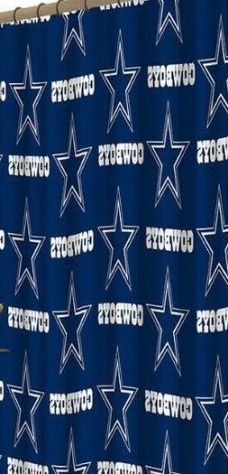 bathroom shower curtain nfl dallas cowboys football