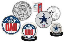 Best Dad - DALLAS COWBOYS 2-Coin U.S. Set Quarter & JFK Half