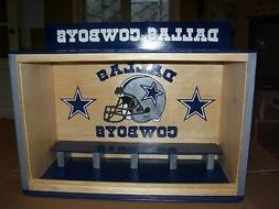 Bobble heads display case Dallas Cowboys Handcrafted Pinewoo