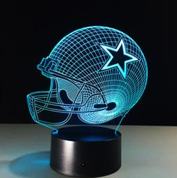 Dallas Cowboys Collectible NFL Decor Night Light Touch Lamp