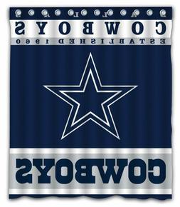 Sonaby Custom Dallas Cowboys Waterproof Fabric Shower Curtai
