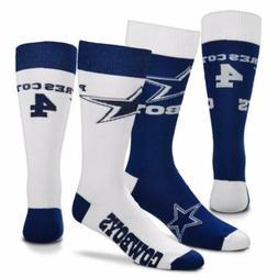 * Dak Prescott #4 Dallas Cowboys Mismatch Crew Socks Men's M
