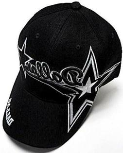 dallas city black hat cap script visor