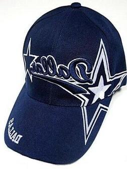 Dallas City Blue Hat Cap Script Visor Embroidered Signature