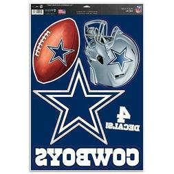 DALLAS COWBOYS ~ 11x17 Sheet of  Ultra Decals for Car Auto W