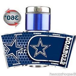 Dallas Cowboys 16 oz Stainless Steel and Plastic Travel Mug