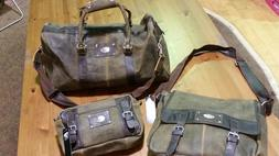 Dallas Cowboys 3 Piece Leather Luggage Set- Duffle, Messenge