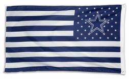 Dallas Cowboys 3 x 5 feet flag banner stripes NFL football