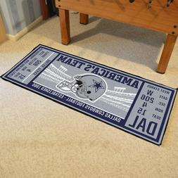 "Dallas Cowboys 30"" X 72"" Ticket Runner Area Rug Floor Mat"