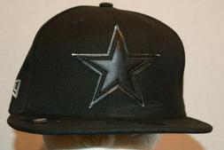 Dallas Cowboys New Era 59FIFTY Black Baseball Star Hat Cap M