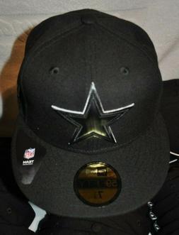 dallas cowboys 59fifty black hat cap multi