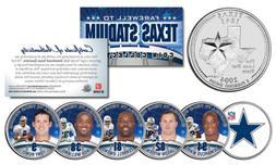 DALLAS COWBOYS 6-Coin TX State US Quarters Set TEXAS STADIUM