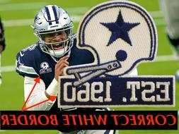 Dallas Cowboys 60th Seasons Anniversary Logo Patch Football