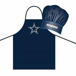 dallas cowboys apron and chef hat set