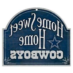 Dallas Cowboys Arched Home Sweet Home Wood Sign  NFL Plaque