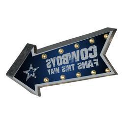 Dallas Cowboys Arrow Marquee Sign - Light Up - Room Bar Deco
