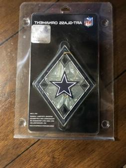 Dallas Cowboys Art-Glass Diamond Ornament NFL Licensed NIP S