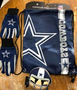 Dallas Cowboys Back Pack/Sack Drawstring Gym Bag gloves Offi