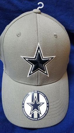 DALLAS COWBOYS BASEBALL HAT CAP NFL GRAY/NAVY FLEX-FIT HAT