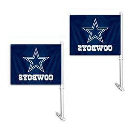 Dallas Cowboys Car Flags - Set of Two