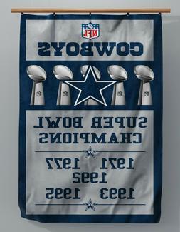 Dallas Cowboys -  Custom Super Bowl Banner - 3 Ft x 5 Ft - A