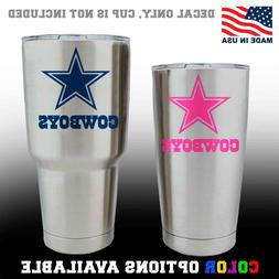 Dallas Cowboys Football Decal for NFL YETI Tumbler Cup Truck