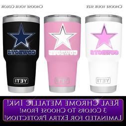 Dallas Cowboys Football Decal for NFL YETI Tumbler 20 30 Oza