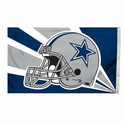 DALLAS COWBOYS FLAG 3'X5' NFL DALLAS COWBOY HELMET BANNER: F