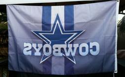 Dallas Cowboys flag, 3ft x 5ft flag, banner, Blue Star, Gray