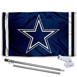 WinCraft Dallas Cowboys Flag Pole and Bracket Kit