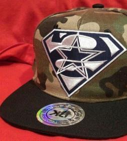 Dallas Cowboys Football Hat Ajustable Snapback Camo Ball Cap