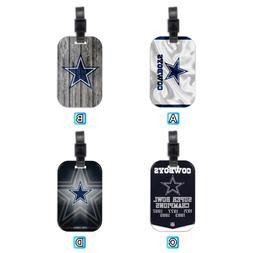 dallas cowboys football wood travel luggage tag