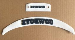 Dallas Cowboys Front And Rear 3D Bumpers Set For Riddell Ful