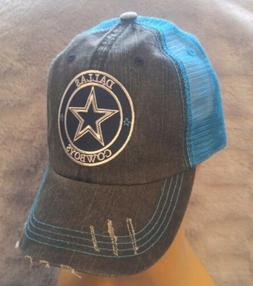 dallas cowboys hat distressed baseball cap neon