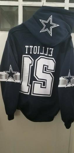 Dallas Cowboys Jersey Style Hoodie Hoody Hooded Sweatshirt