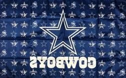 Dallas Cowboys Logo NFL Flag 3x5 ft Blue Sports Banner Man-C