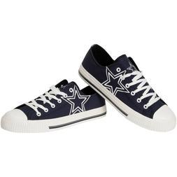 Dallas Cowboys Mens Big Logo Low Top Canvas Shoes Sneakers -