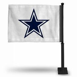Dallas Cowboys NFL 11x14 Window Mount 2-Sided Car Flag White