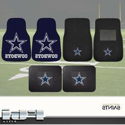 Dallas Cowboys NFL 2-Pc & 4-Pc Carpet Front Vinyl Rear Floor