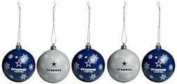 DALLAS COWBOYS NFL 5-Pack Shatterproof Ball Ornament Set