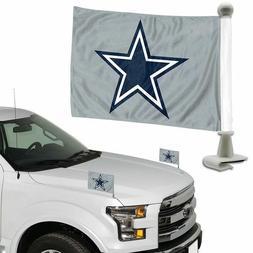 Dallas Cowboys NFL Ambassador Car Flags Hood Trunk Set of 2