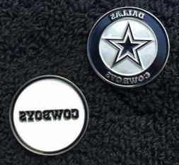 Dallas Cowboys NFL Ball Marker Set: 4- markers,  fits hat cl