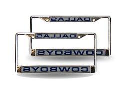 Dallas Cowboys NFL Chrome Metal  Laser License Plate Frame S