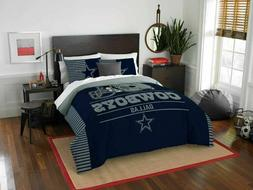 Dallas Cowboys NFL Full Size 3 Pc Comforter and 2 Shams Bed