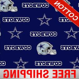 "Dallas Cowboys NFL Cotton Fabric - 60"" Wide - Style# 6313 -"