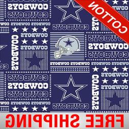 "Dallas Cowboys NFL Cotton Fabric - 60"" Wide - Style# 6424 -"