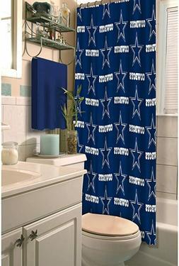 dallas cowboys nfl fabric shower curtain new