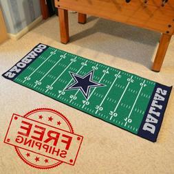 Dallas Cowboys NFL Football Field Runner Man Cave Area Rug M
